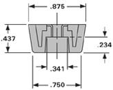 MF6-1T-TPR87-B (REAR FOOT)